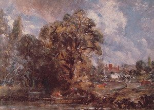 Reproduction oil paintings - John Constable - Scene On A River