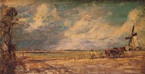 Reproduction oil paintings - John Constable - Spring Ploughing