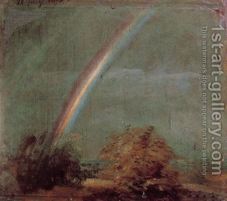 Landscape With A Double Rainbow by John Constable - Reproduction Oil Painting