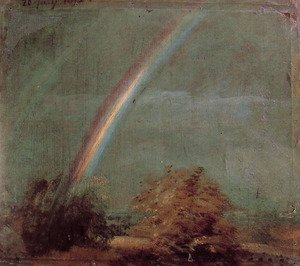 Reproduction oil paintings - John Constable - Landscape With A Double Rainbow