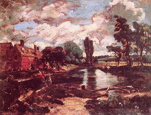 Reproduction oil paintings - John Constable - Flatford Mill from a Lock on the Stour c. 1811