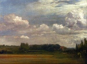 Reproduction oil paintings - John Constable - View Towards The Rectory  From East Bergholt House