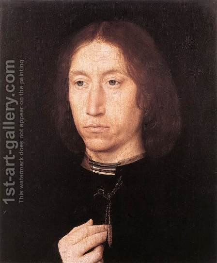 Portrait of a Man 1478-80 by Hans Memling - Reproduction Oil Painting