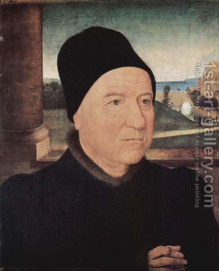 Portrait of an Old Man 1470-75 by Hans Memling - Reproduction Oil Painting
