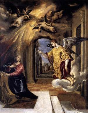 Mannerism painting reproductions: The Annunciation c. 1570
