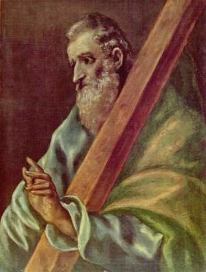 Mannerism painting reproductions: Apostle St Andrew c. 1610