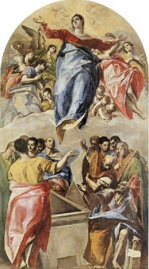 Mannerism painting reproductions: The Assumption of the Virgin 1577