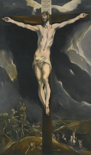 Mannerism painting reproductions: Christ On The Cross With Landscapes