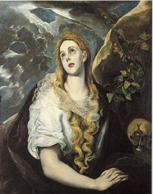 Mannerism painting reproductions: Mary Magdalen in Penitence 1580-85