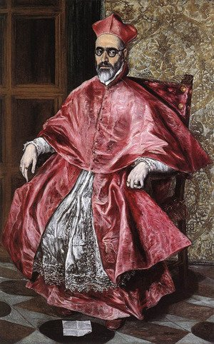 Mannerism painting reproductions: Portrait Of A Cardinal