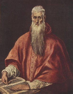 Mannerism painting reproductions: St Jerome as a Scholar 1600-14