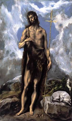 Mannerism painting reproductions: St. John the Baptist c. 1600
