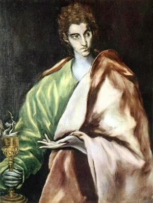 Mannerism painting reproductions: Apostle St John the Evangelist 1610-14