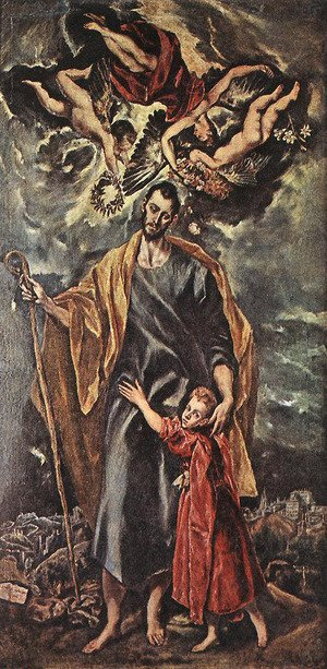 Mannerism painting reproductions: St Joseph and the Christ Child 1597-99