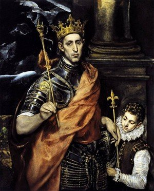 Mannerism painting reproductions: St. Louis- King of France 1586-94