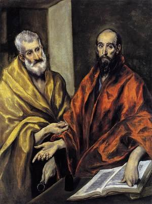 Mannerism painting reproductions: Saints Peter and Paul 1605-08