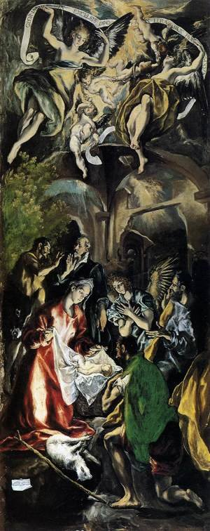 Mannerism painting reproductions: Adoration of the Shepherds 1596-1600