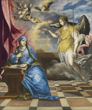 Mannerism painting reproductions: The Annunciation c. 1576