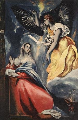 Mannerism painting reproductions: The Annunciation 1600s