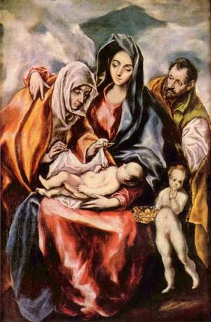 Mannerism painting reproductions: The Holy Family