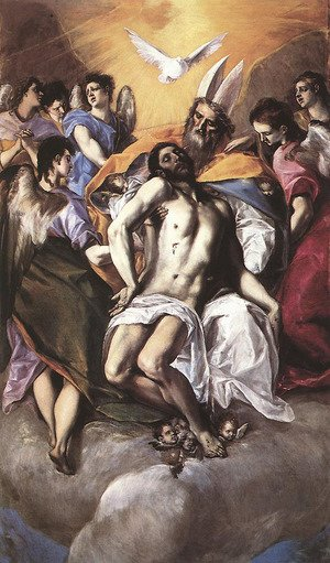 Mannerism painting reproductions: The Holy Trinity 1577-79
