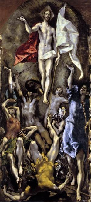 Mannerism painting reproductions: The Resurrection 1596-1600