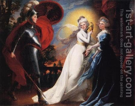 The Red Cross Knight by John Singleton Copley - Reproduction Oil Painting