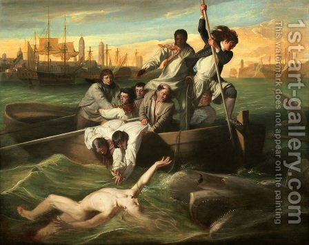 Watson And The Shark by John Singleton Copley - Reproduction Oil Painting