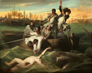 Famous paintings of Ships & Boats: Watson And The Shark