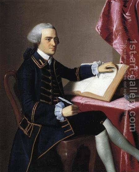 John Hancock by John Singleton Copley - Reproduction Oil Painting