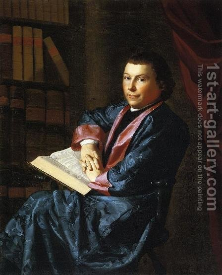 Reverend Thomas Cary by John Singleton Copley - Reproduction Oil Painting