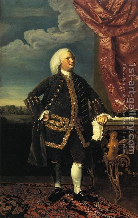Jeremiah Lee by John Singleton Copley - Reproduction Oil Painting