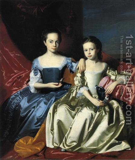 Mary And Elizabeth Royall by John Singleton Copley - Reproduction Oil Painting