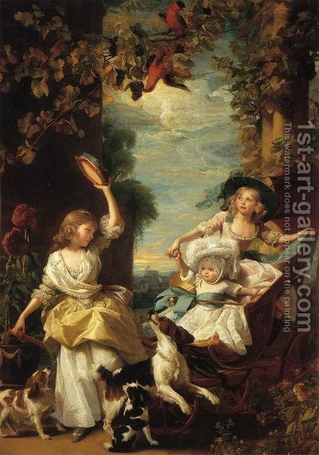 The Three Youngest Daughters Of George III by John Singleton Copley - Reproduction Oil Painting