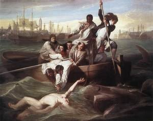 Famous paintings of Ships & Boats: Brook Watson and the Shark 1778
