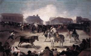 Goya reproductions - Village Bullfight