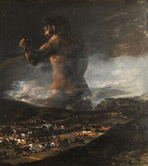 Reproduction oil paintings - Goya - The Colossus