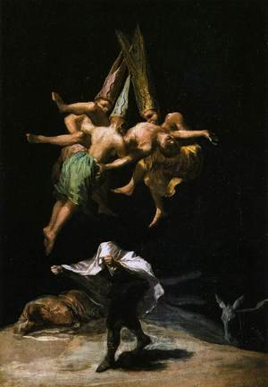 Famous paintings of Horses & Horse Riding: Witches In The Air