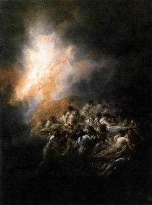 Reproduction oil paintings - Goya - Fire At Night