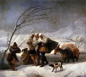 Reproduction oil paintings - Goya - The Snowstorm