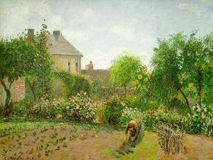 Reproduction oil paintings - Camille Pissarro - The Artist's Garden at Eragny 1898
