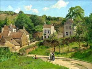 Reproduction oil paintings - Camille Pissarro - The Hermitage at Pontoise 1867