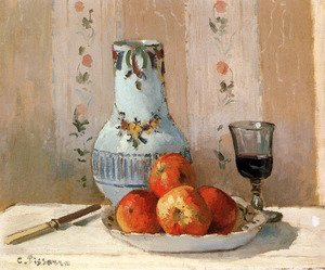 Famous paintings of Fruits: Still Life With Apples And Pitcher