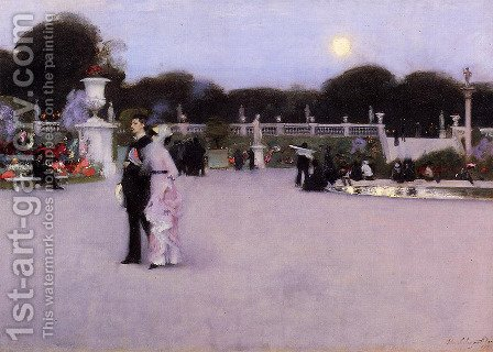 Sargent: In The Luxembourg Gardens - reproduction oil painting