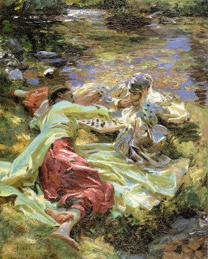 Reproduction oil paintings - Sargent - The Chess Game