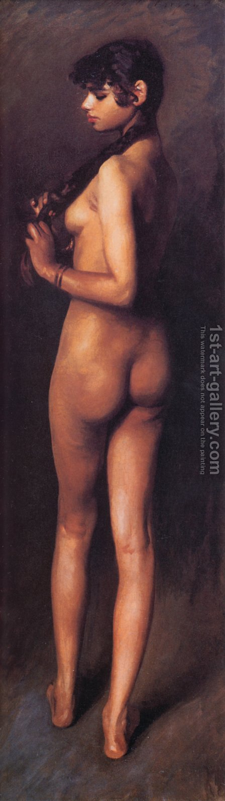 Sargent: Nude Egyptian Girl - reproduction oil painting