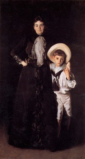Reproduction oil paintings - Sargent - Mrs  Edward L  Davis And Her Son Livingston