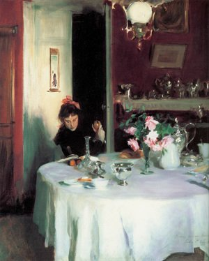 Reproduction oil paintings - Sargent - The Breakfast Table