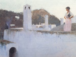 Reproduction oil paintings - Sargent - View Of Capri