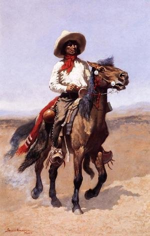 Famous paintings of Wild West: A Regimental Scout